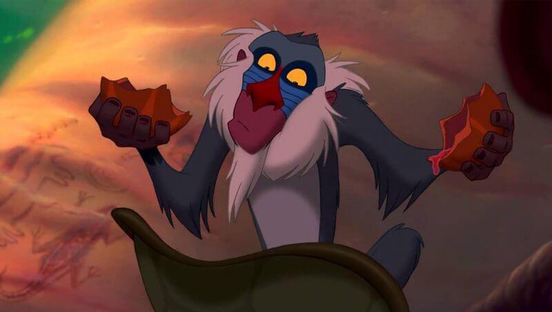 Rafiki es un babuino de El Rey León