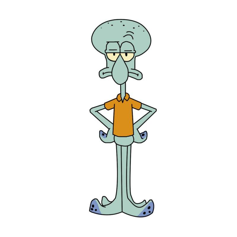 Calamardo, de la serie animada Bob Esponja.
