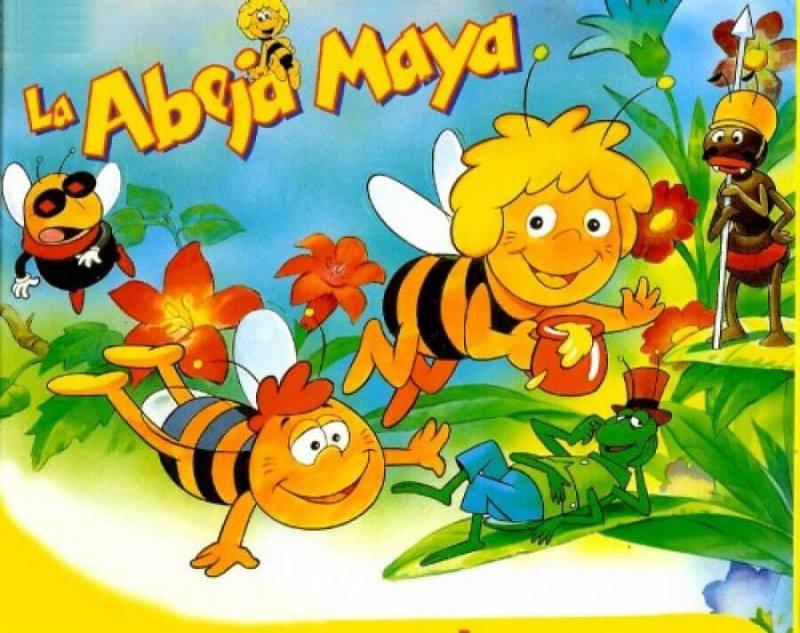 La abeja maya y su amigo Willy, el zángano.
