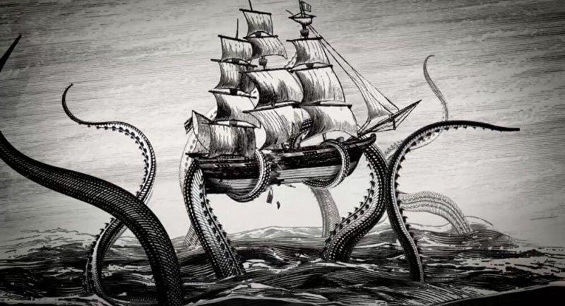 El kraken es un calamar gigate rodeado de muchas leyendas urbanas.