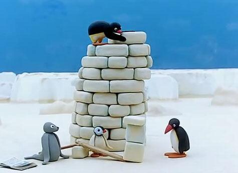Escena mítica de Pingu.