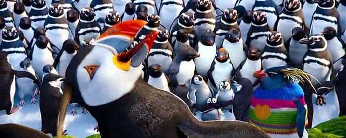 Sven es uno de los protagonistas de Happy Feet 2 y es un frailecillo.