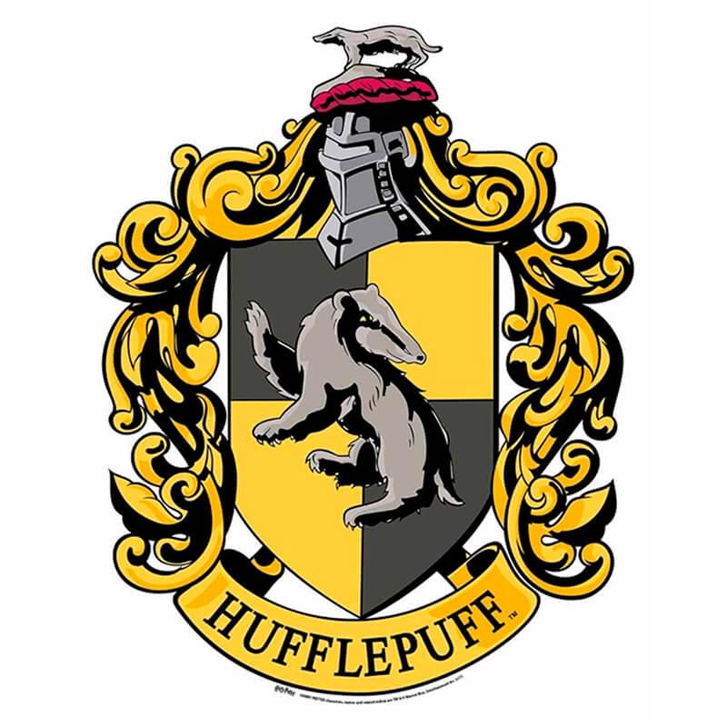 Representación del tejón en el logo de Hufflepuff